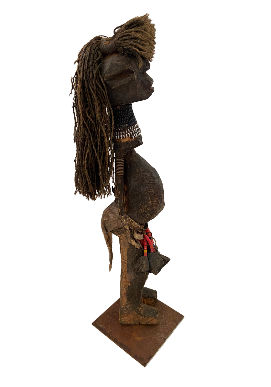 Old African Fetish female Figure Statue Congo 14