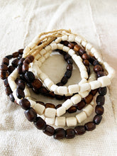 "Load image into Gallery viewer, Set/ 4 African Bone Trading Beads 24"" L"