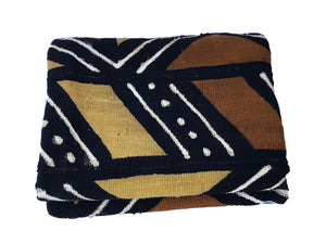 "African Bogolan Mud Cloth Textile 65 "" by 40 """