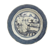 "Load image into Gallery viewer, 19th Century Chinese Canton Blue and White Porcelain Plate 9.75"" D"