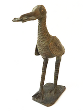 "Load image into Gallery viewer, Bronze AfricanTribal/ Ashanti Akan Of a Bird/ Rooster I Coast 6 .5"" h"