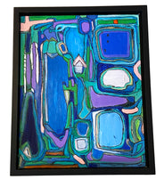 "Load image into Gallery viewer, Acrylic on Canvas Framed Abstract 21.75""By 17.75 "" Framed Signed Yjr $1,200"