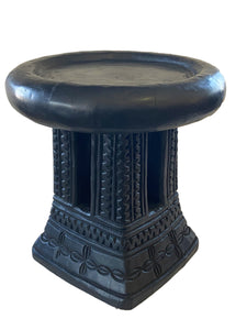 "Old Bamileke Stool/Table Cameroon 14.25"" H"