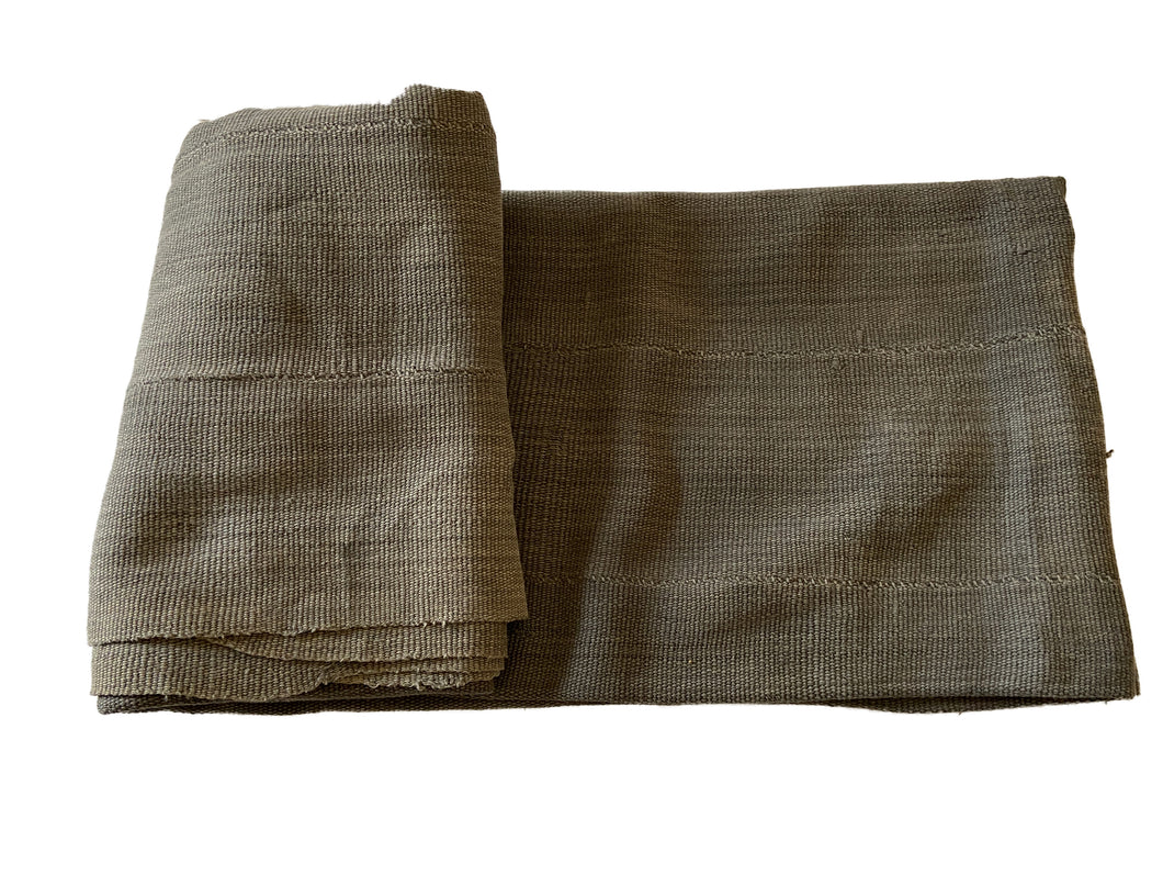 African Plain Gray Color Mud Cloth Textile Mali 60
