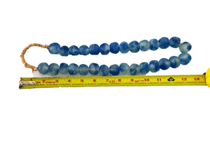 "#3338 African Lg GlassTrading Beads Necklace 27"" H"
