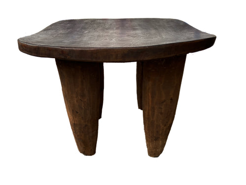 Old African Square Senufo Stool Cote d'Ivoire