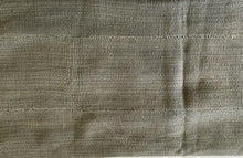 "Load image into Gallery viewer, African Plain Gray Color Mud Cloth Textile Mali 60"" by 39"" # 3376"
