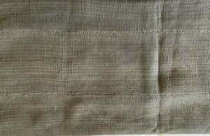 "African Plain Gray Color Mud Cloth Textile Mali 60"" by 39"" # 3376"