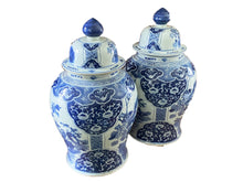 "Load image into Gallery viewer, Lg Chinoiserie B & W Ginger Jars 23"" H"