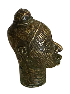 #3369 Benin Bronze Brass Head of a Queen Nigeria