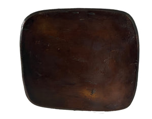 "African Old   Senufo Wood Milk Stool  I  . Coast 6.5"" H by 10.25"" W #3331"