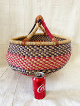Load image into Gallery viewer, #3244 African Bolga Ghana Market Basket 18""
