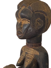 "Load image into Gallery viewer, #3525 Baule Old Maternity Figure Cote D'ivoire Africa 18.5"" H"