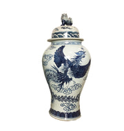 Mansion Size Chinoiserie Blue & White Porcelain Ginger Jar 35