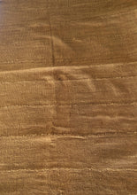 "Load image into Gallery viewer, African Plain Mustard Color Mud Cloth Textile Mali 62"" by 40"""