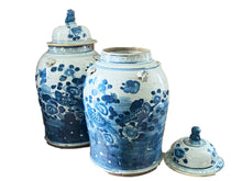 "Load image into Gallery viewer, LG Chinoiserie B & W Ginger Jars 19"" H"