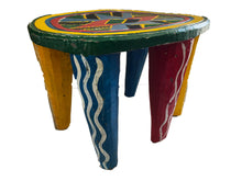 "Load image into Gallery viewer, Superb African LG Colorful Nupe Stool Nigeria 11.75"" h"