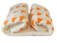 #3459 Superb Orange  and white   mud-cloth cotton fabric,