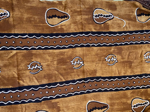 "African Bogolan Mud Cloth Textile 63 "" by 40"""