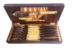 Epns Engraved Fish Flatware Set for 6