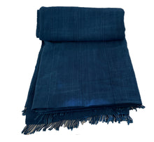 "Load image into Gallery viewer, Plain Indigo Cloth - Mossi Tribe Burkina Faso 69"" by 40"""