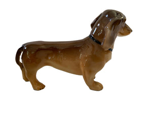 #3354 Collectible Vtg Silesian Porcelain Dog