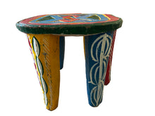 "Load image into Gallery viewer, African Old Nupe Stool Nigeria 11.5"" H"