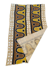 "#3768 Superb Bogolan Mali Mud Cloth Textile 38"" by 62"""