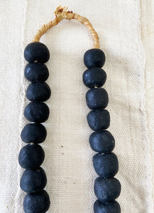 "African Jumbo GlassTrading Beads Necklace 28"" H"