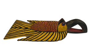 "#3650 African Colorful Fish Mask Bozo Bamana 24"" H."