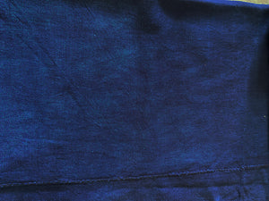 "Fine Plain Indigo Cloth - Mossi Tribe Burkina Faso 64"" by 43"""