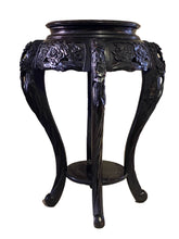 Load image into Gallery viewer, Antique Chinoiserie Rosewood Pedestal Stand Display