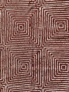 "Brown & White Mud Cloth Textile Mali 40.5"" by 64"" # 3391"