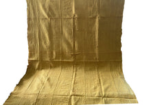 "Load image into Gallery viewer, African Plain Mustard Color Mud Cloth Textile Mali 65"" by 40"""