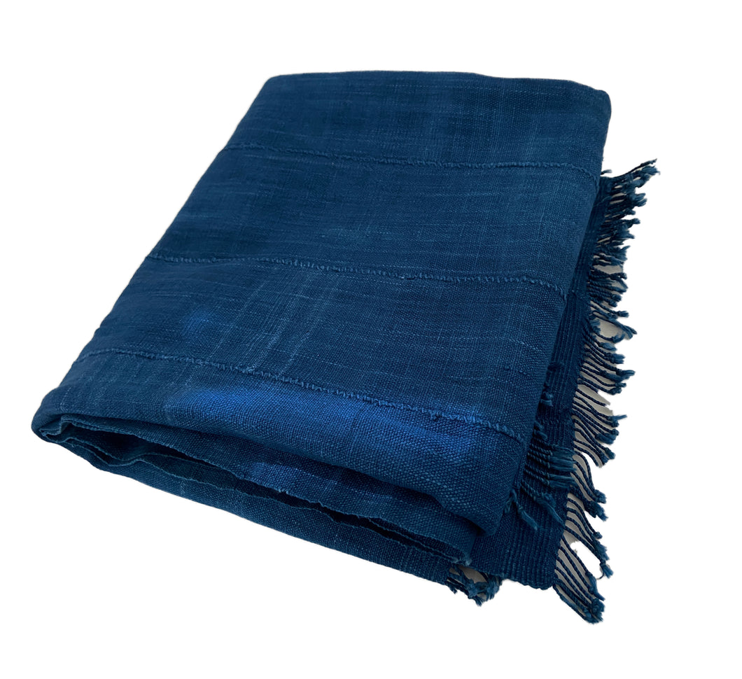 Plain Indigo Cloth - Mossi Tribe Burkina Faso 69