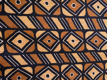 "Load image into Gallery viewer, African Bogolan Mud Cloth Textile 62 "" by 39"""
