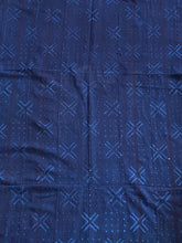 "Load image into Gallery viewer, Vtg Mali Indigo Mud Cloth Textile 37"" by 69"" #3399"