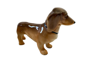 Collectible Vtg Silesian Porcelain Dog