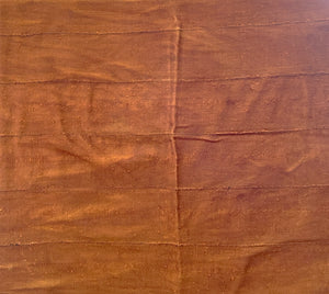 "African Plain Chocolate Brown Color Mud Cloth Textile Mali 66"" by 44"""