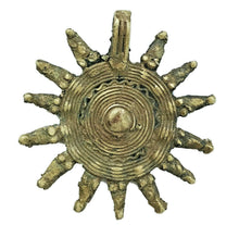 "Load image into Gallery viewer, large Gan Bronze Amulet Pendant 10 Serpent Heads Burkina Faso Africa 3.5"" h"