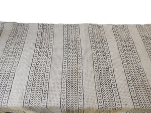 "African Large Black & White Mud Cloth Textile Mali 84"" by 62"" # 1962"