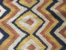 "Load image into Gallery viewer, Superb African Kuba Kasai Velvet Raffia Textile Zaire 24.5 ""by 22.25"""