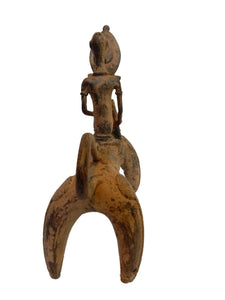 "#131 Superb African Dogon Bronze Horseman  11.75"" H by 11.5""W"