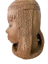 "Load image into Gallery viewer, Superb Large Ife Clay / Terracotta Oba Head  Edo People Nigeria African 12.5"" H"