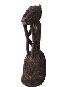 "Old Exquisite /Rare Mossi Monkey Helmet / Mask  Burkina Faso  25"" h"