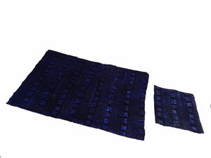 "Malian Indigo Mud Cloth Textiles S/2 44"" by 58"" # 15"