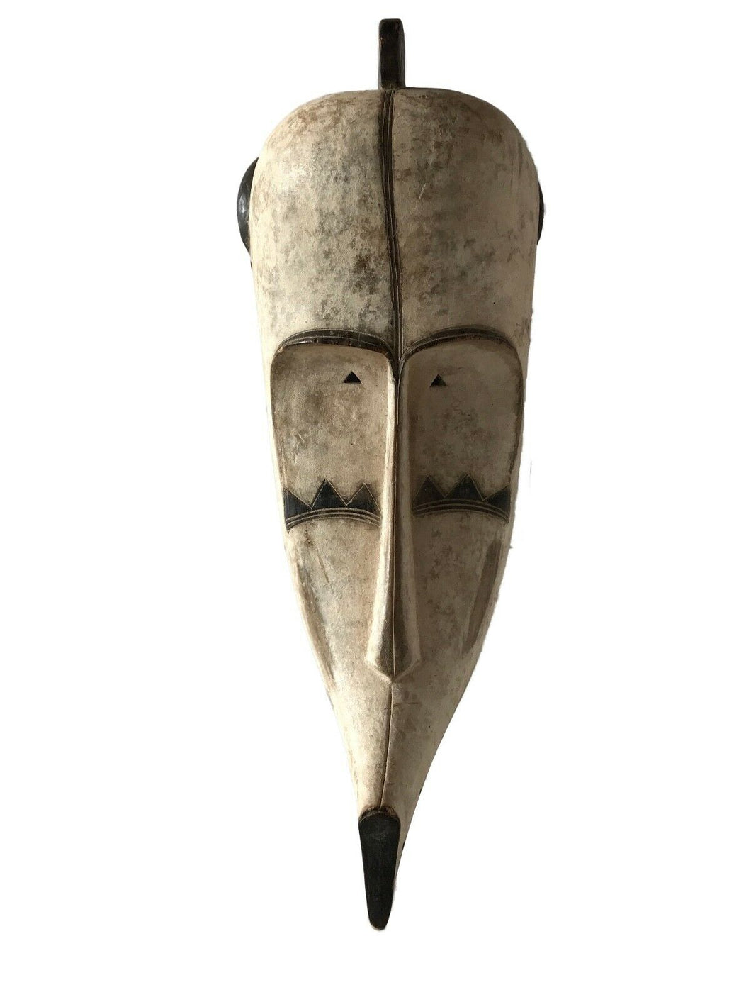 #1334 Lg Fang Mask Elongated Face Gabon African Mask 28.5