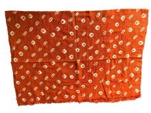 Load image into Gallery viewer, African Bogolan Textile Mud Cloth Orange & White