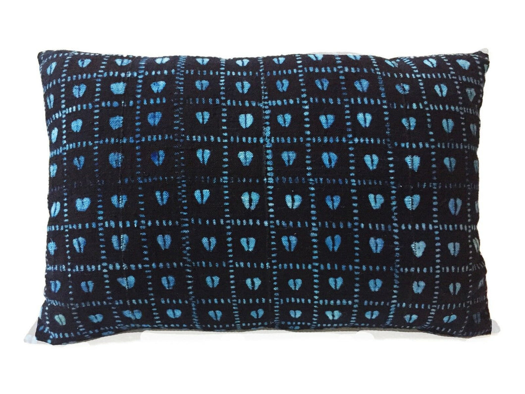 African Custom Made Indigo  cloth Pillow
