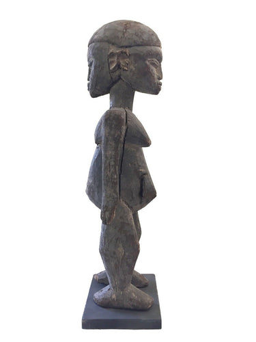 Stunning Old Lobi Shrine Male/female Figure Bateba 21.5 in African Burkina Faso